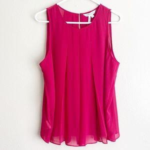 NWT BCBGeneration Pleated Front Sangria Tank Top L
